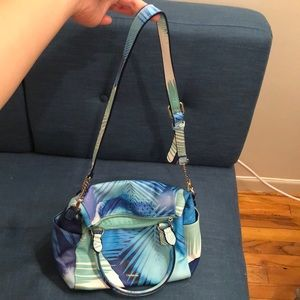 Desigual Bags - Desigual blue and green tropical print purse